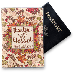 Thankful & Blessed Vinyl Passport Holder (Personalized)