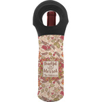 Thankful & Blessed Wine Tote Bag (Personalized)