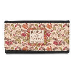 Thankful & Blessed Leatherette Ladies Wallet (Personalized)
