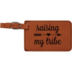 Tribe Quotes Leatherette Luggage Tag (Personalized)