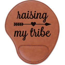 Tribe Quotes Leatherette Mouse Pad with Wrist Support (Personalized)