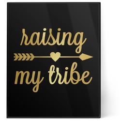 Tribe Quotes 8x10 Foil Wall Art - Black (Personalized)