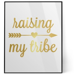 Tribe Quotes 8x10 Foil Wall Art - White (Personalized)