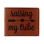 Tribe Quotes Leatherette Bifold Wallet (Personalized)