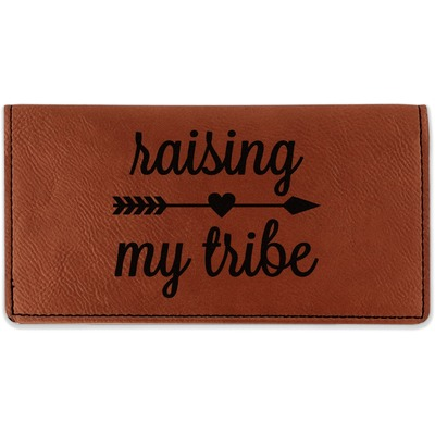 Tribe Quotes Leatherette Checkbook Holder (Personalized)