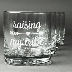Tribe Quotes Whiskey Glasses (Set of 4) (Personalized)