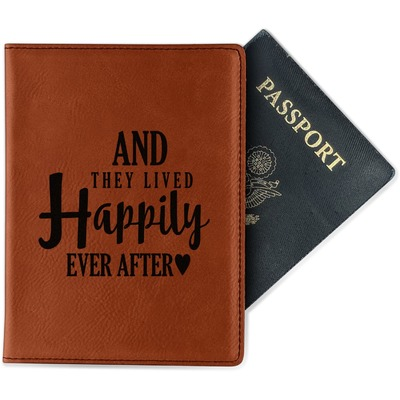 Wedding Quotes and Sayings Leatherette Passport Holder (Personalized)