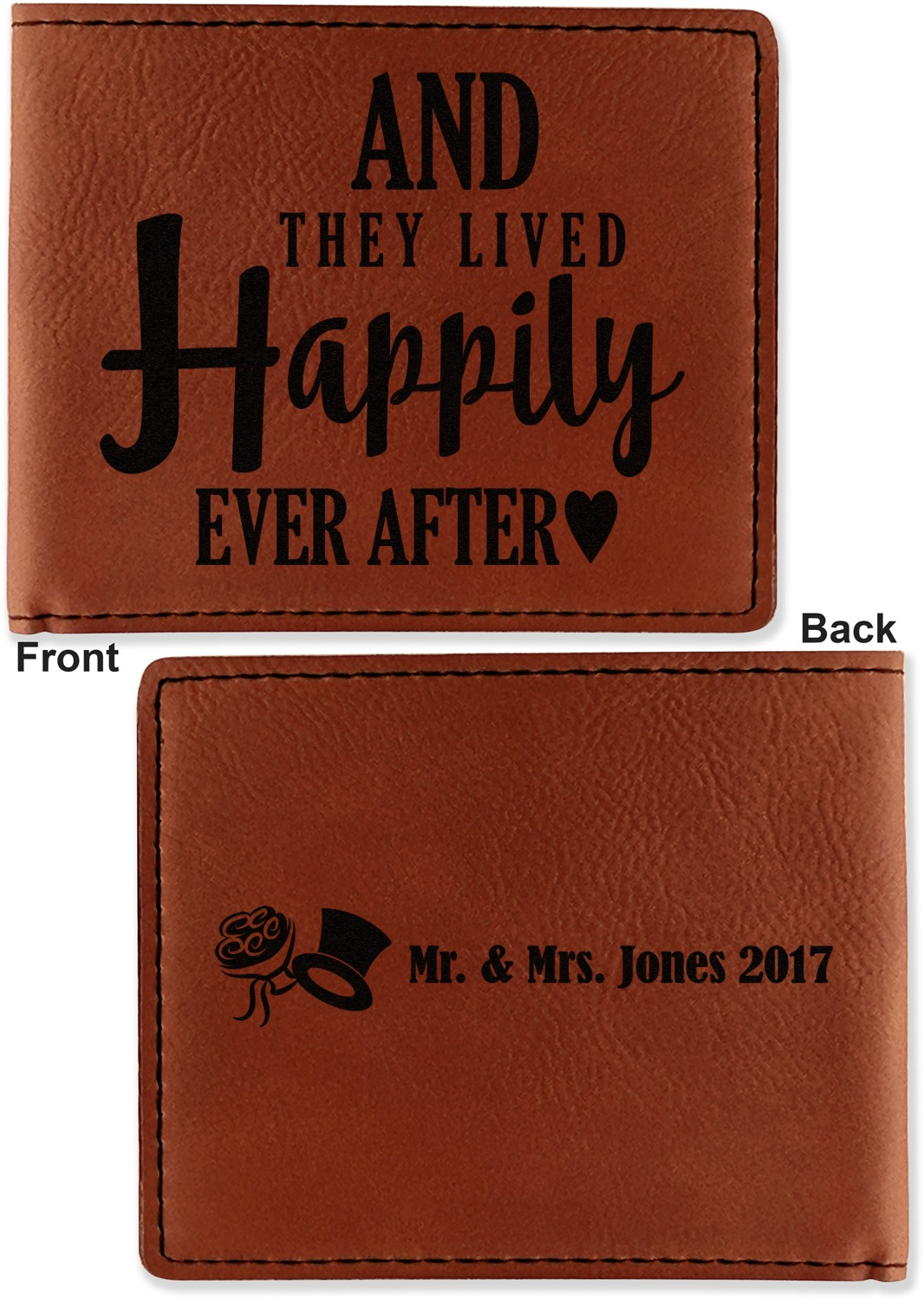 Wedding Quotes And Sayings Leatherette Bifold Wallet Personalized