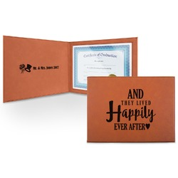 Wedding Quotes and Sayings Leatherette Certificate Holder (Personalized)