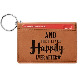 Wedding Quotes and Sayings Leatherette Keychain ID Holder (Personalized)