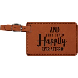 Wedding Quotes and Sayings Leatherette Luggage Tag (Personalized)