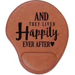 Wedding Quotes and Sayings Leatherette Mouse Pad with Wrist Support (Personalized)