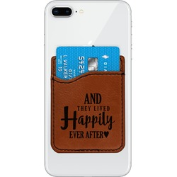 Wedding Quotes and Sayings Leatherette Phone Wallet (Personalized)