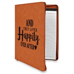 Wedding Quotes and Sayings Leatherette Zipper Portfolio with Notepad (Personalized)