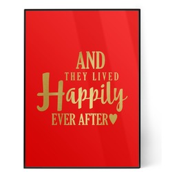 Wedding Quotes and Sayings 5x7 Red Foil Print (Personalized)