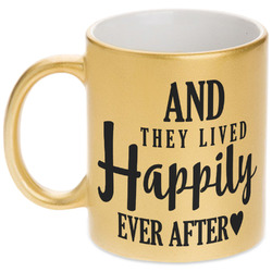Wedding Quotes and Sayings Gold Mug (Personalized)