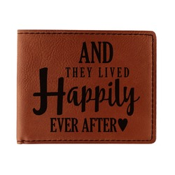 Wedding Quotes and Sayings Leatherette Bifold Wallet (Personalized)