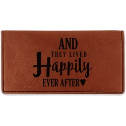 Wedding Quotes and Sayings Leatherette Checkbook Holder (Personalized)