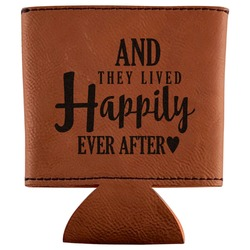 Wedding Quotes and Sayings Leatherette Can Sleeve (Personalized)
