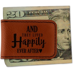 Wedding Quotes and Sayings Leatherette Magnetic Money Clip (Personalized)