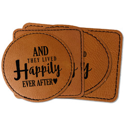 Wedding Quotes and Sayings Faux Leather Iron On Patch