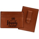 Wedding Quotes and Sayings Leatherette Wallet with Money Clip (Personalized)
