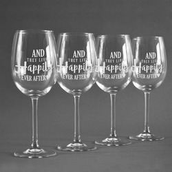Wedding Quotes and Sayings Wineglasses (Set of 4) (Personalized)