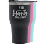 Wedding Quotes and Sayings RTIC Tumbler - Black (Personalized)