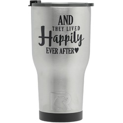 Wedding Quotes and Sayings RTIC Tumbler - Silver - Engraved Front (Personalized)