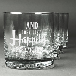 Wedding Quotes and Sayings Whiskey Glasses (Set of 4) (Personalized)