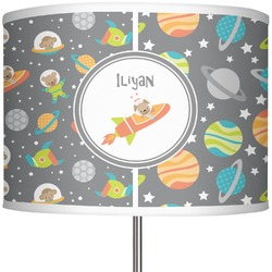 """Space Explorer 13"""" Drum Lamp Shade (Personalized)"""