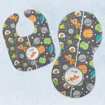 Space Explorer Baby Bib & Burp Set w/ Name or Text