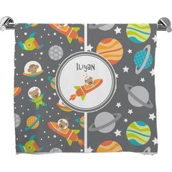 Space Explorer Full Print Bath Towel (Personalized)