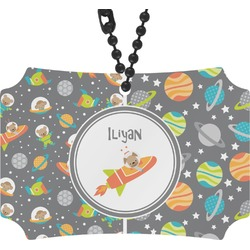 Space Explorer Rear View Mirror Ornament (Personalized)