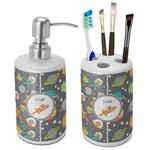 Space Explorer Ceramic Bathroom Accessories Set (Personalized)