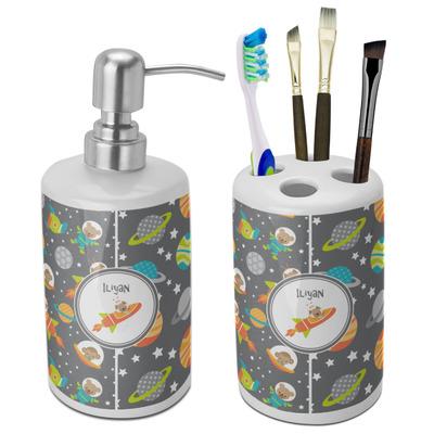 Space Explorer Bathroom Accessories Set (Ceramic) (Personalized)