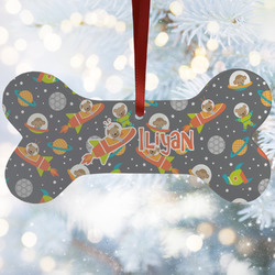 Space Explorer Ceramic Dog Ornaments w/ Name or Text