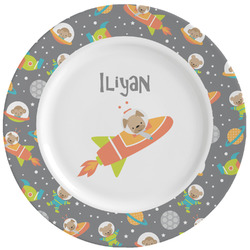 Space Explorer Ceramic Dinner Plates (Set of 4) (Personalized)