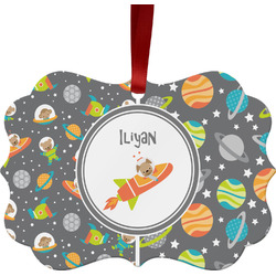 Space Explorer Ornament (Personalized)