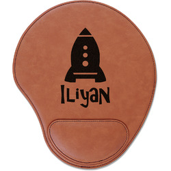 Space Explorer Leatherette Mouse Pad with Wrist Support (Personalized)