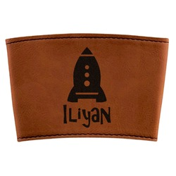 Space Explorer Leatherette Mug Sleeve (Personalized)