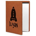 Space Explorer Leatherette Portfolio with Notepad (Personalized)