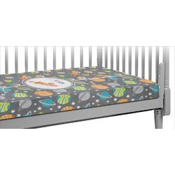 Space Explorer Crib Fitted Sheet (Personalized)