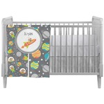 Space Explorer Crib Comforter / Quilt (Personalized)