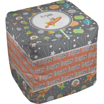 Space Explorer Cube Pouf Ottoman (Personalized)
