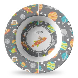Space Explorer Plastic Bowl - Microwave Safe - Composite Polymer (Personalized)
