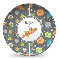 Space Explorer Microwave Safe Plastic Plate - Composite Polymer (Personalized)