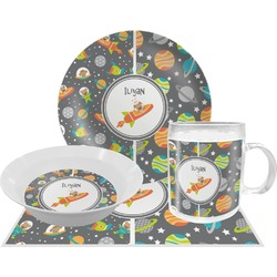 Space Explorer Dinner Set - 4 Pc (Personalized)