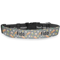 """Space Explorer Deluxe Dog Collar - Extra Large (16"""" to 27"""") (Personalized)"""