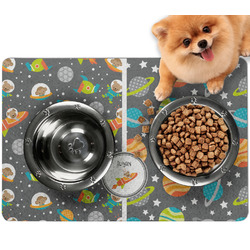 Space Explorer Dog Food Mat - Small w/ Name or Text